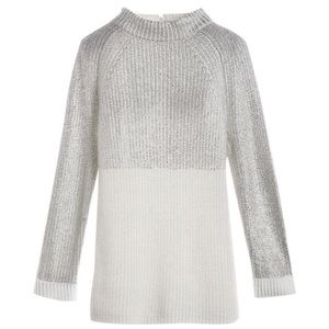 Chico White Silver foil Melanie Sweater